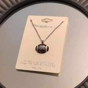Jewelry - Silver Necklace with Football Pendant